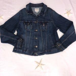 Torrid Denim Jacket Button Front 4 Pockets Size 1